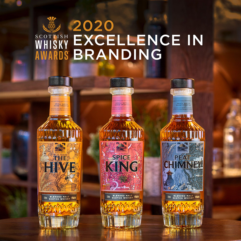 'Excellence in Branding 2020' for Breeze Creative Client Wemyss Malts